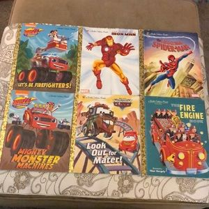 Little golden book cars Spider-Man iron man blaze